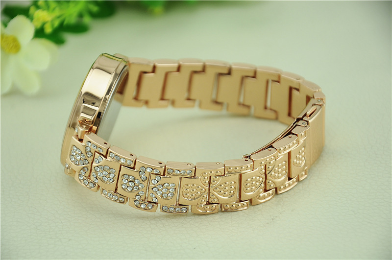 Fashion casual Watch Inlaid crystal Watch Men Stainless steel Quartz Watch 3 colors RQ0088