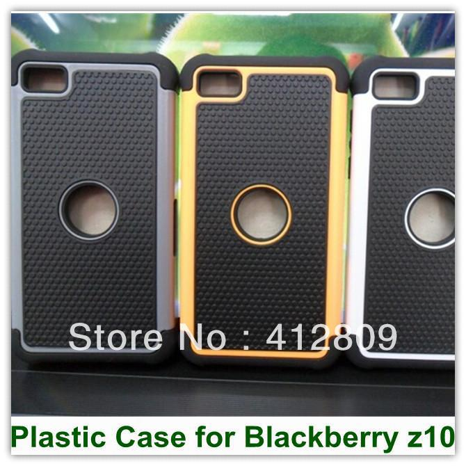 Fashion Rubber 3 in 1 Shock Proof Robot Denfender Case for Blackberry z10 25PCS Free(China (Mainland))
