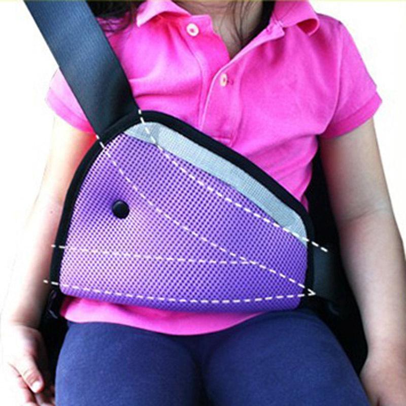 8 Color car Safe Fit Seat Belt Adjuster car safety belt adjust device baby child protector positioner Breathable 1 button(China (Mainland))