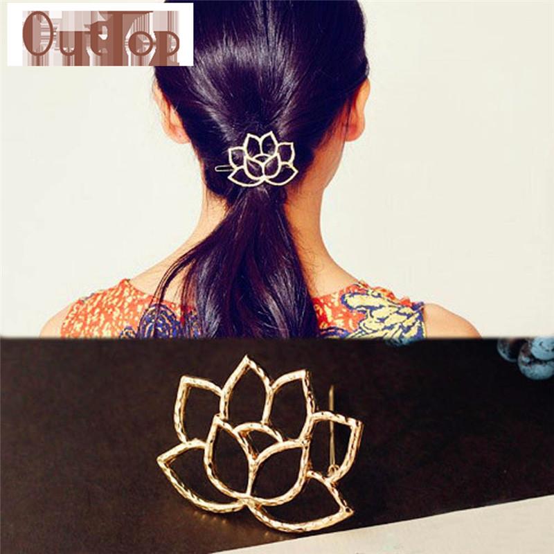 Graceful Lotus Retro Styling Hairpin Hair Clips Headdress Flower Hair Accessories pinza de pelo FREE SHIPPING SEPT9