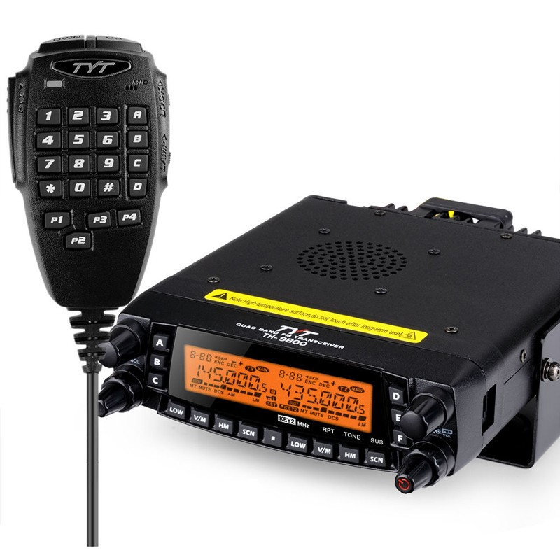 Free Shipping TYT TH9800 HF/VHF/UHF AM Air-band Reception Amateur Radio Transceiver with Programming Cable(China (Mainland))