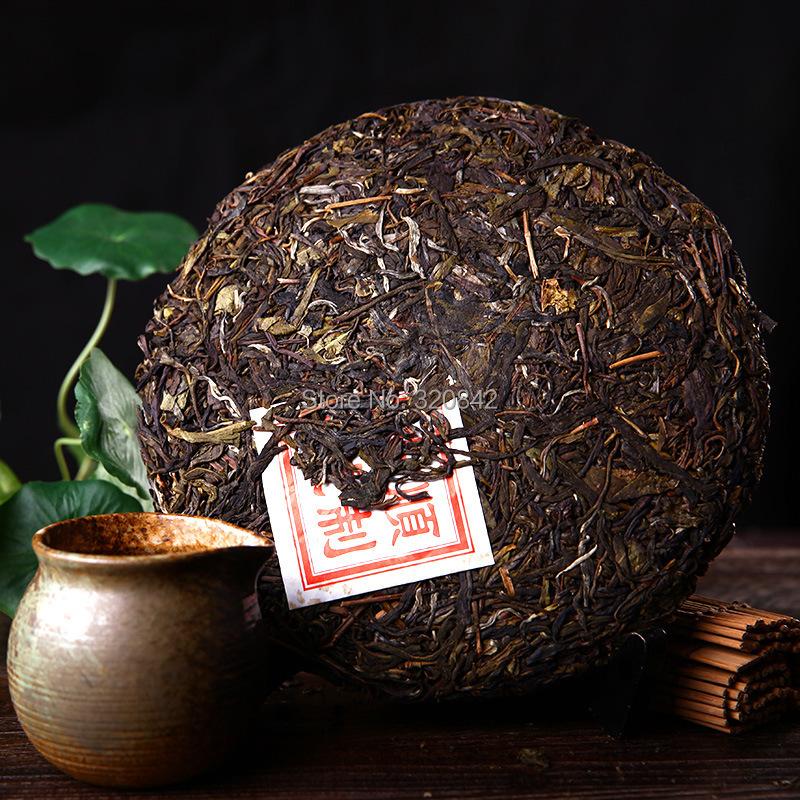 Yunnan shu Puer tea 357g pu er tea cake ripe puerh wholesale the chinese green food pu erh health care tea(China (Mainland))