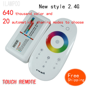 hongkong posttouch pannel RGB controller 12V /24V 18A Wireless 2.4g Touch Panel Remote Controller for RGB Strip free shipping