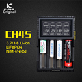 Original Klarus CH4S Smart Battery Charger AC USB Input 4 Slot LCD Intelligent Battery Charger for