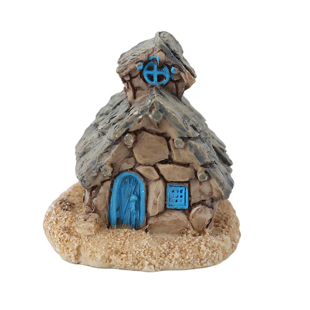 Micro Stone House Fairy Garden Miniature Cottage Landscape Decoration Ornament DIY Resin Crafts(China (Mainland))