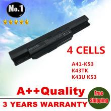 4cells laptop battery A41-K53 for Asus A43 A53 K43 K53 X43 A43B A53B K43B K53B X43B A54LY A83 A83B A83B A83BR A83BY A83E A83S
