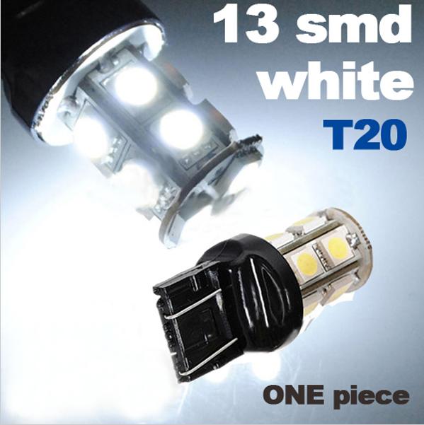 T20 7443 7440 W21/5W 13 LED 5050 SMD Auto Car Stop Tail Brake Backup Lamp Reverse Daytime Running Light Bulb(China (Mainland))