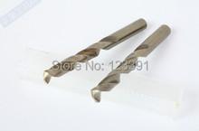 2 unids/pack 10 * 133 mm TIN recubierto CNC molido HSS M35 Co5 % torcedura brocas de mango recto para duro SS / acero / acero fundido hierro alum