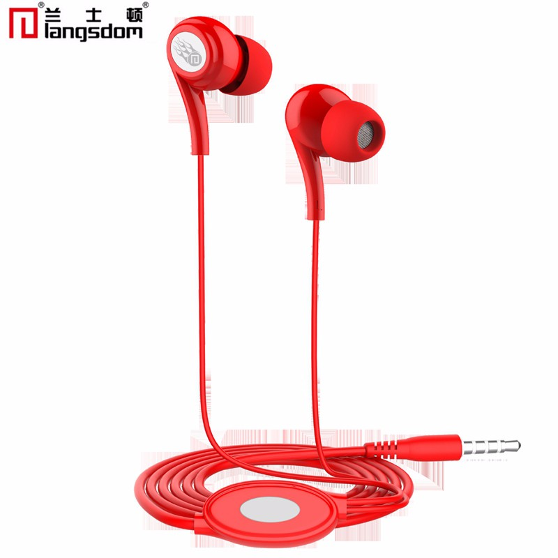 Original Langsdom JM21 stereo earphones with Microphone Super Bass 3.5mm In-Ear Earphone Headset For iphone xiaomi mobile phones