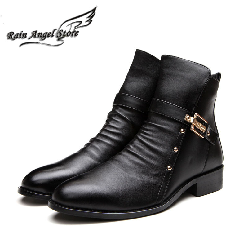 aliexpress buy pointed toe boots genuine leather