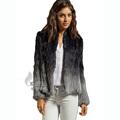 CX G A 145 Dip dyed European Fashion Knitted Genuine Rabbit Fur Jacket