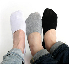 Los hombres calcetines holgazán 10 par/lote 2015 moda Casual algodón calcetines clásico masculino breve Invisible zapatillas boca baja No Show calcetín(China (Mainland))