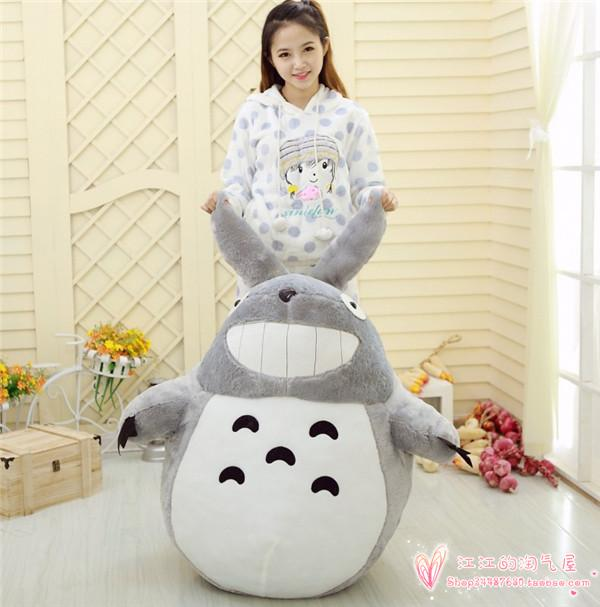 stuffed toy largest 140cm cute totoro plush toy hugging pillow ,Christmas gift h738(China (Mainland))