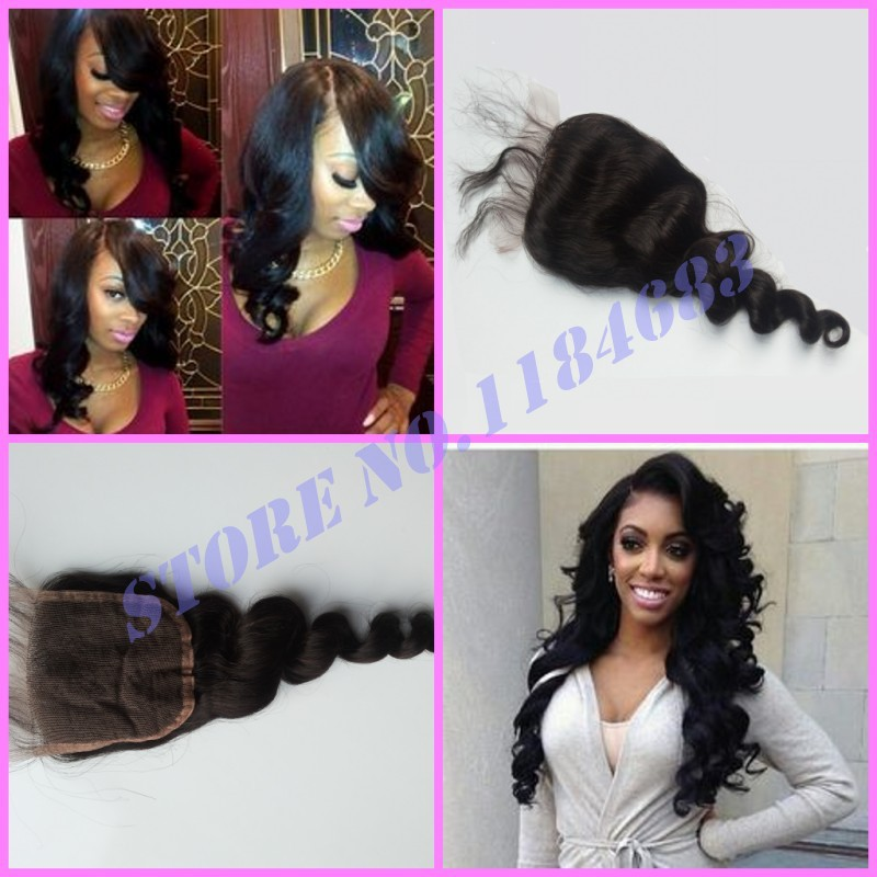 Peruvian Lace Closure Body Wave Fast Bleached Knots,8-22in Unprocessed VIRGlN 7A Ms Lily Hair Top Lace Closure Natural Color 1b<br><br>Aliexpress