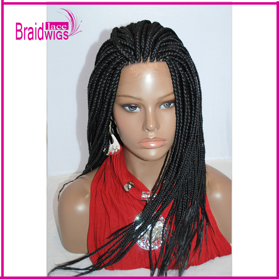 braided lace front wigs for black women micro braided wigs