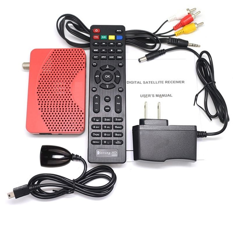 HOT Mini Size FTA DVB-S2 HD Digital Satellite IPTV Combo Receiver Set Top BOX + WIFI Dongle Biss Key Power VU IKS Internet Share(China (Mainland))