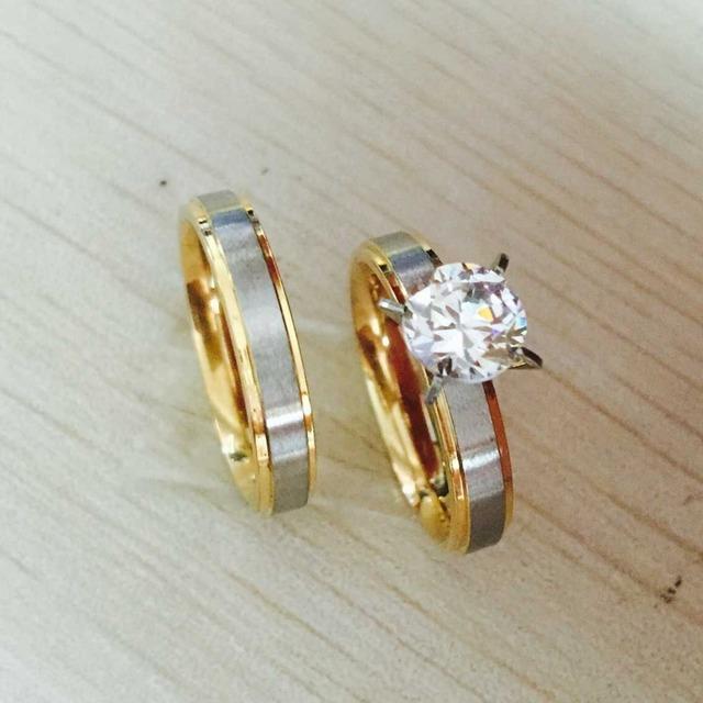 4 мм титана стали CZ алмазов корейской пара шайб для мужчины женщины обручальное ...
