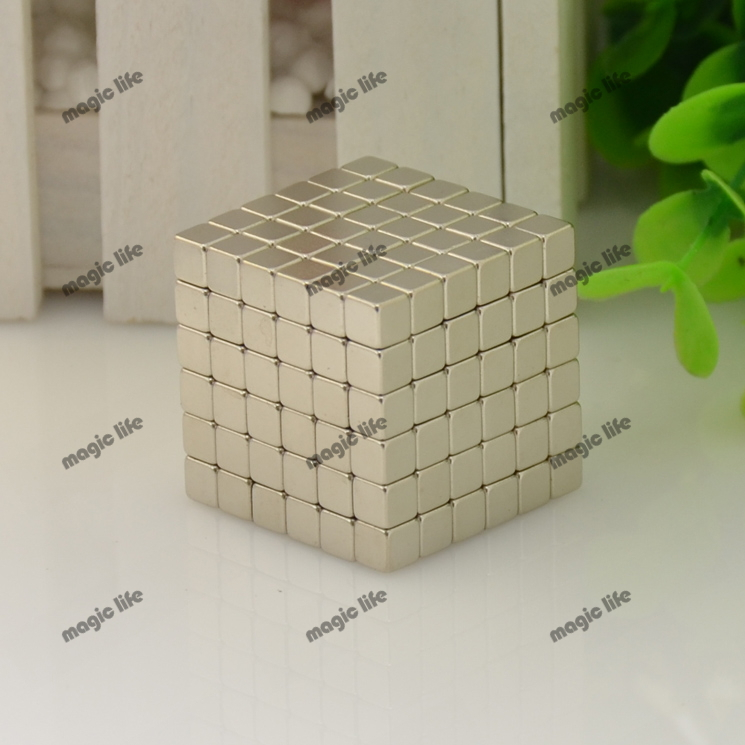 Three Size cube Magnetic Balls Grade N35 Magic toy Puzzle Magnet Block Cubo Magico Education Toys +metal Box+bag+card(China (Mainland))
