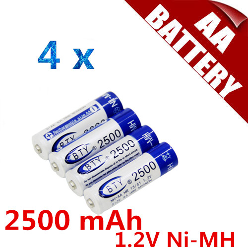 BTY 2500 NiMH Rechargeable AA Battery(China (Mainland))