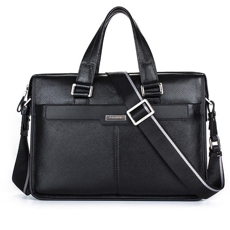 Man Business style genuine leather bag briefcase men messenger bags men multi-function shoulder bag 14Laptop handbag<br><br>Aliexpress