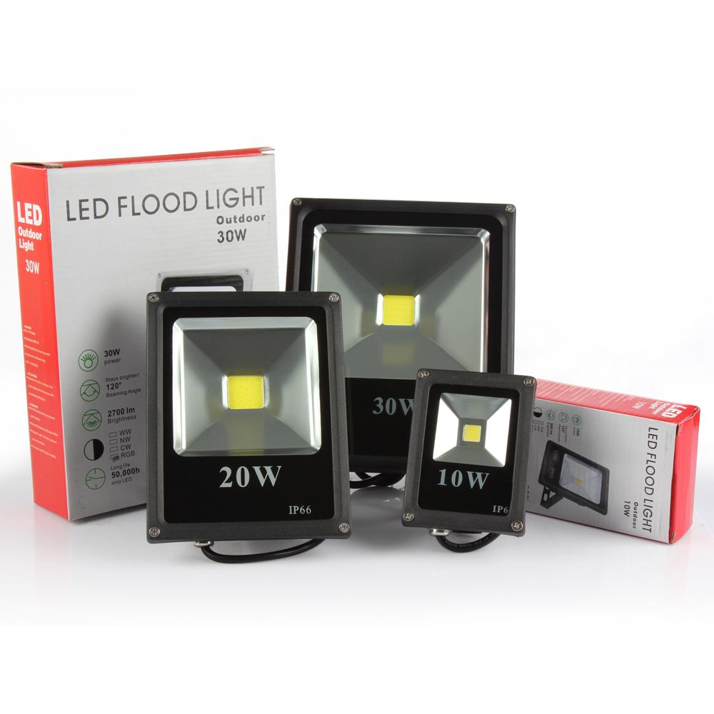 1pc AC85-265V 10W 20W 30W 50W LED Flood Light Lamp Warm/Cold white RGB Outdoor Waterproof LED Floodlight Street Light(China (Mainland))