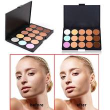 Free Shipping New Beauty Professional 15 Color Make Up Cream Camouflage Concealer Palette High Qualty Women Concealer Makeup