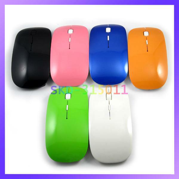 Ультра-тонкий 2.4 G беспроводная мышь мини USB Беспроводная оптическая мышь 10м рабочее расстояние