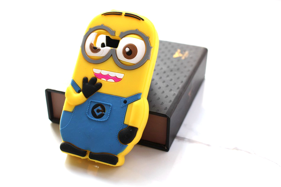 New Fashion Cute 3D Animal Cartoon Minions Case Cover For Samsung GALAXY Young 2 G130 G130H [Soft Silicone] Cases(China (Mainland))