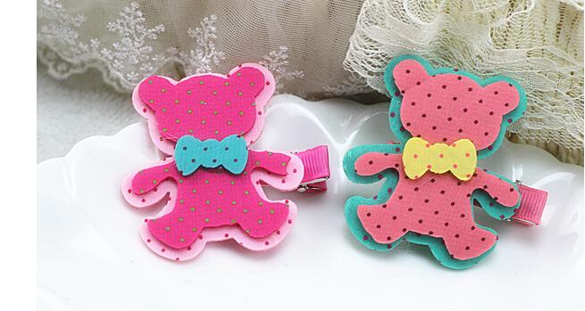 Aliexpress.com Comprar Kawaii Cartoon Mickey conejo oso diseño muchacha de los niños Clips para accesorios para el cabello de clip de mensaje fiable