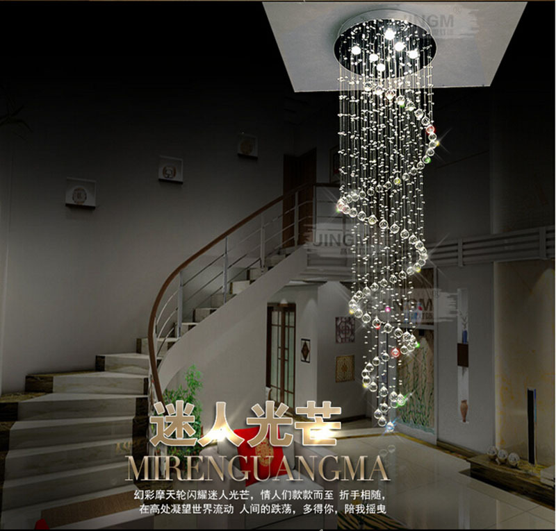 Large Foyer Fixture : H mm large foyer crystal chandelier light fixtures