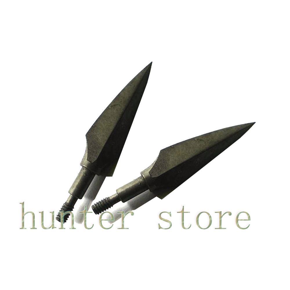 free shiping 3pcs archery steel arrow head 154grain shooting target arrow tip for 400 spine fiberglass