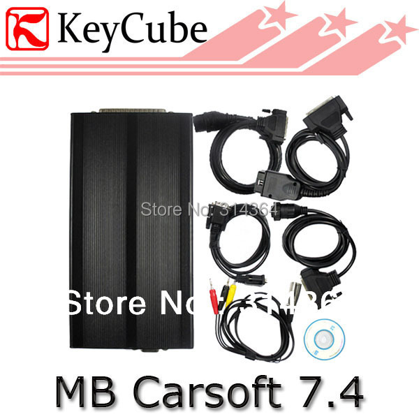 Professional MB 7.4 Multiplexer Mercedes Benz Carsoft 7.4 Automobiles diagnostic tool MB Carsoft Free Shipping(China (Mainland))