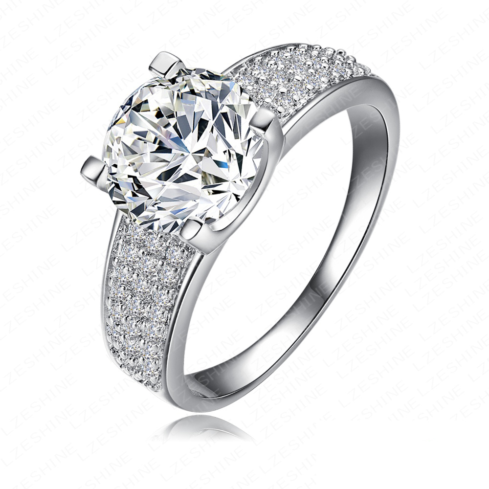 Wow!! Big Sale for new Store Hot Selling 18KGP Golden/Platinum Plated Micro Inlay Cubic Zircon Wedding Rings CRI0010(China (Mainland))