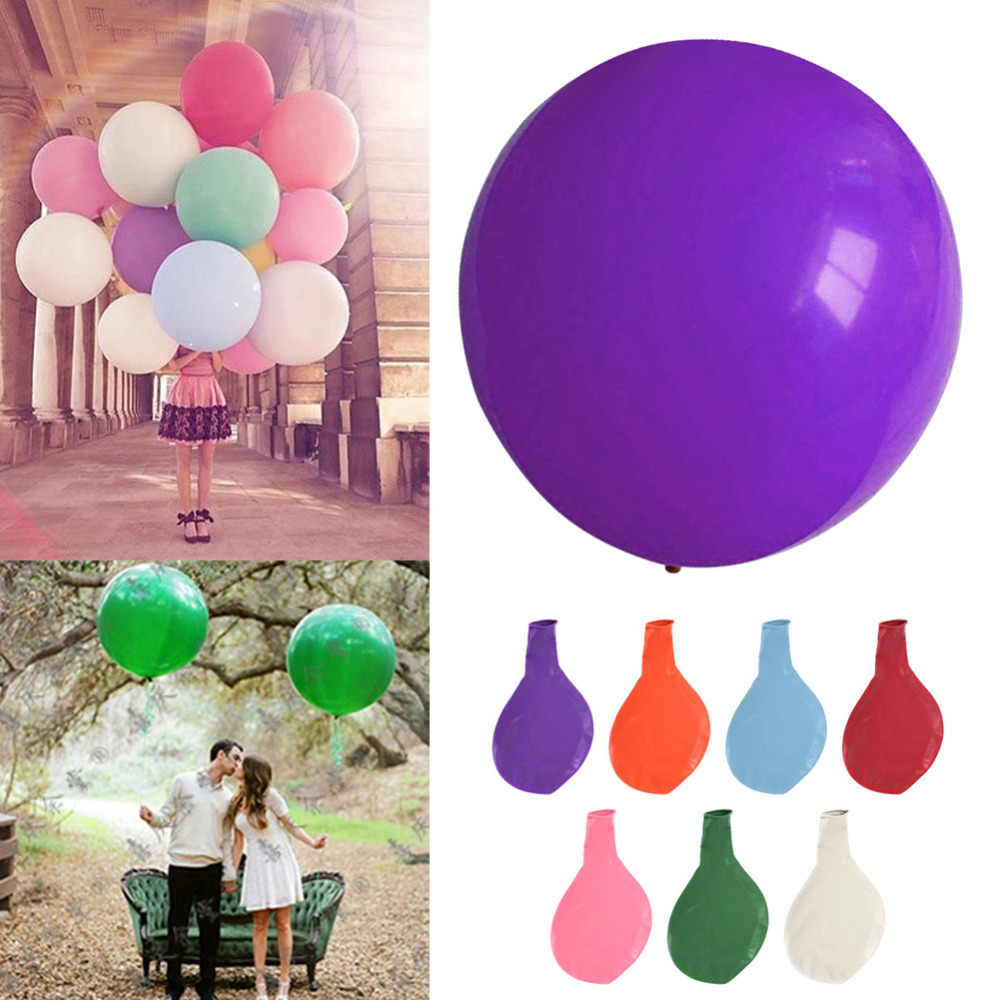 1Pc Colorful blow up 36 Inches Balloon Ball Helium Inflable Big Latex Balloons For a Birthday Party or weeding Decoration(China (Mainland))