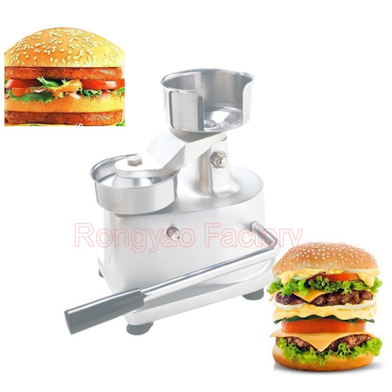 Manual hamburger bun toaster, Stainless steel  hamburger machine, bread baking toaster<br><br>Aliexpress