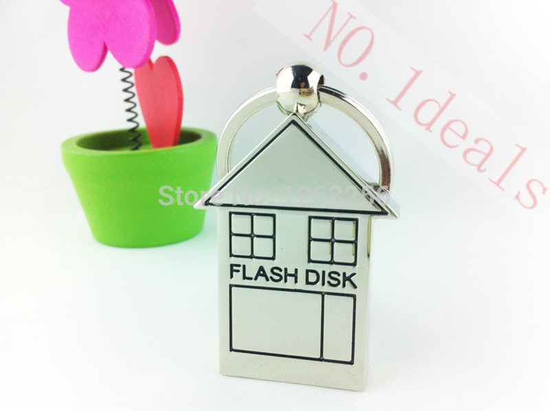 Free shipping Small House usb flash drive disk memory 8GB 16GB 32GB USB Flash 2.0 Memory Drive Stick family(China (Mainland))