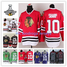 2015 Stanley Cup Champions Chicago Blackhawks #10 Patrick Sharp NHL Jersey Cheap -Red Black White Purple Gray Green Hot Sale(China (Mainland))