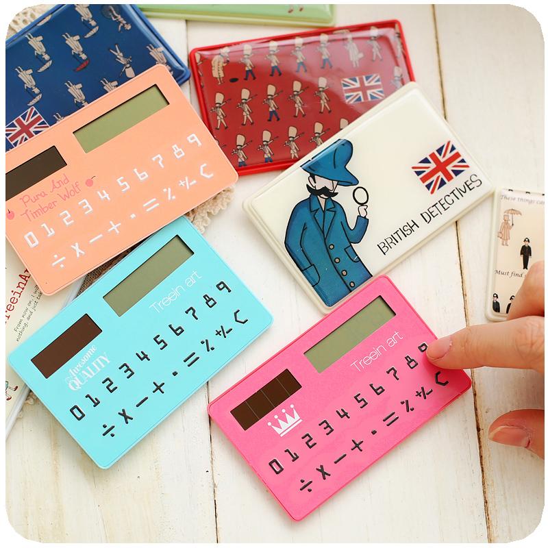1pcs/lot Korea stationery card portable calculator mini handheld ultra-thin calculator free shipping(China (Mainland))