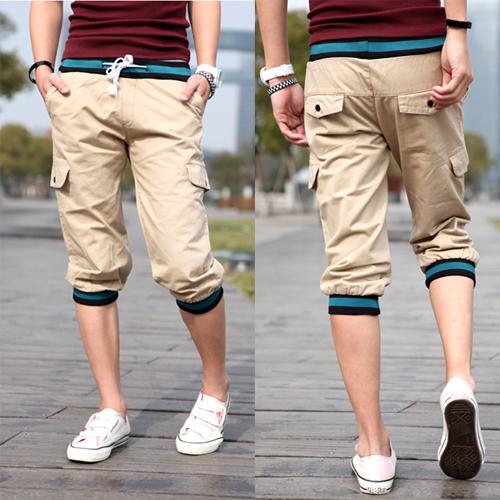 Summer-Mens-3-4-Pants-font-b-Three-b-fon
