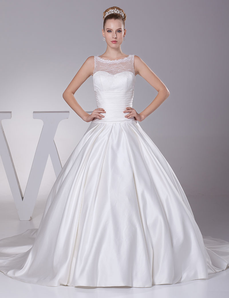Simple country wedding dresses the for Elegant ball gown wedding dresses