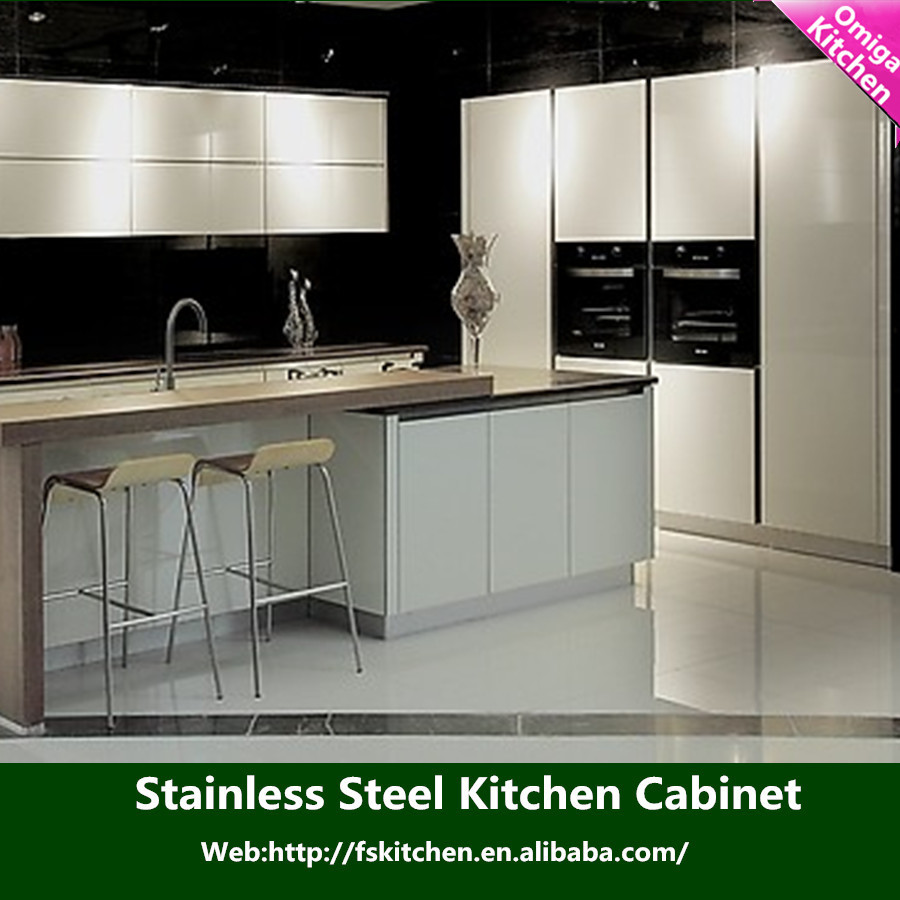 Foshan factory supplier customized stainless steel outdoor for Outdoor kitchen cabinets stainless steel