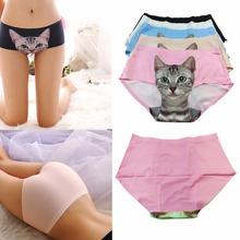Buy 2016 New Women's Seamless Briefs 3D Emptied Cat Printing Panties Underwear for $1.47 in AliExpress store