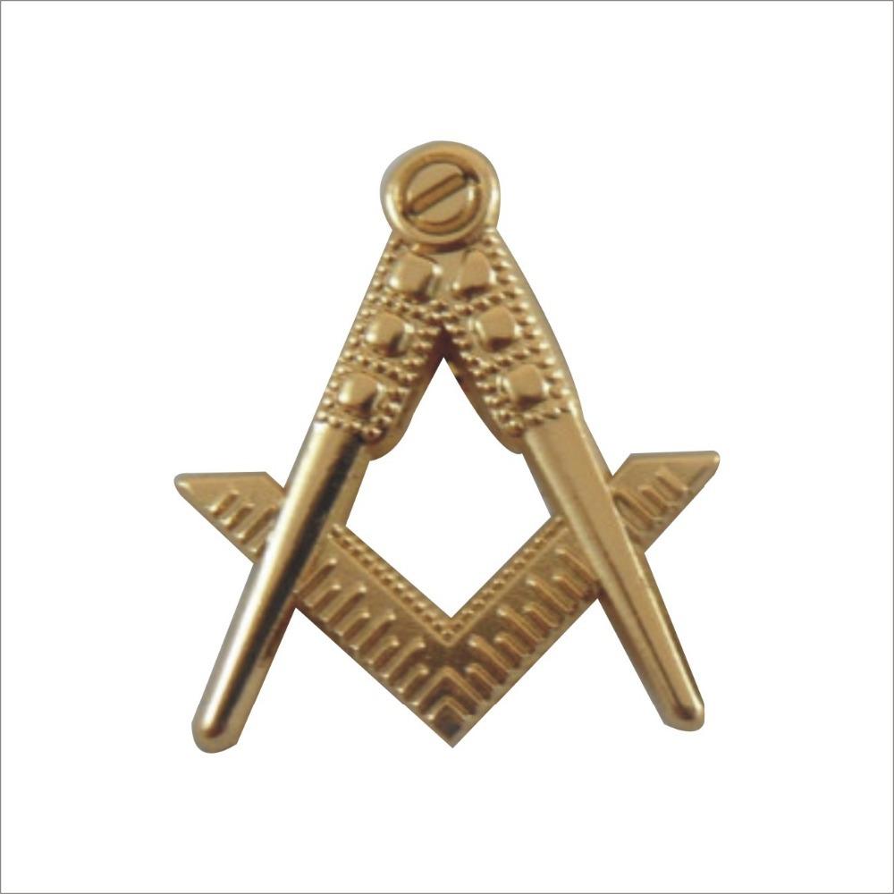 Masonic Items 19.1mm Cut Out Compass&Square Masonic Lapel Pin(China (Mainland))