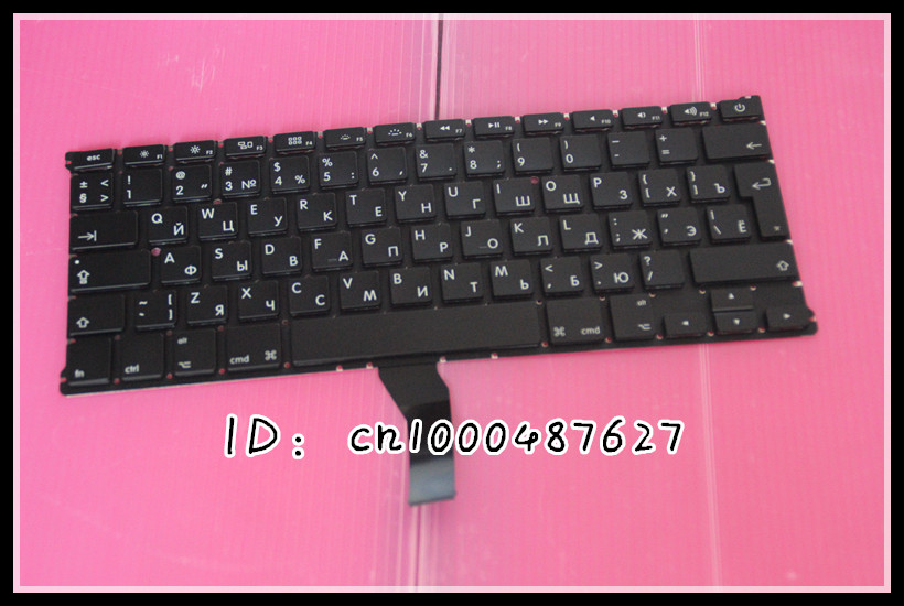 New 13.3 RU Russian keyboard For Macbook Air A1369 MC503 MC504 2011 keyboard No backlight<br><br>Aliexpress