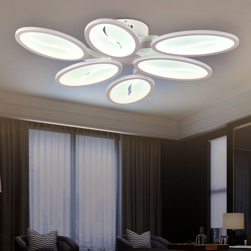 Modern Led Ceiling Lights For Living Room Acrylic Ceiling Lamps For Home Decoration Remote control energy efficiency light(China (Mainland))