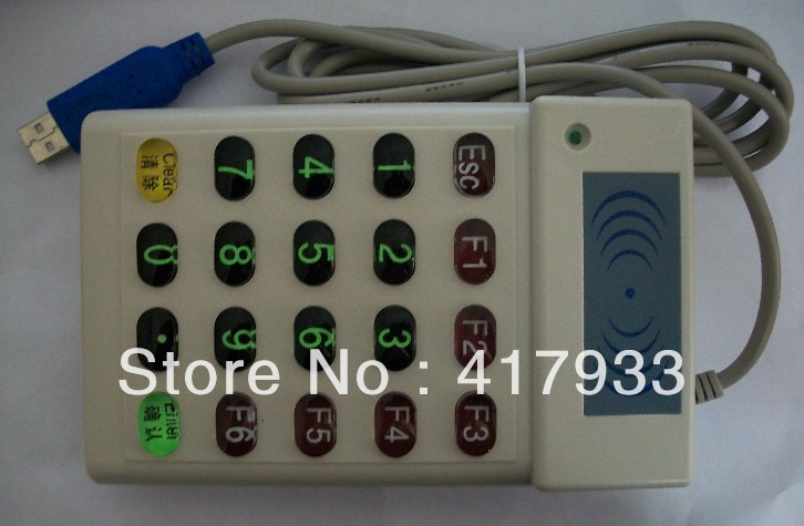 125KHz ID Reader  ID Desktop Reader   Easy RFID  Reader  multi-function Reader/Wholesale -  keypad access control reader<br><br>Aliexpress