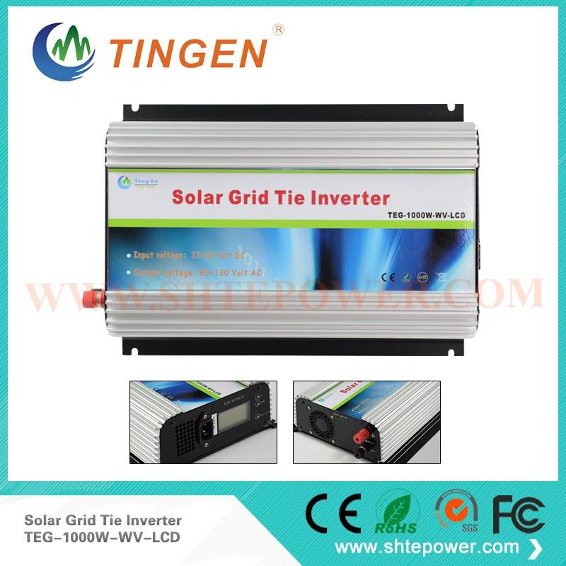 Grid connect solar inverters 1000w,48v solar grid tie inverter 1KW, 48V/60V(45-90V DC) to 220v 230v 240v grid tie solar inverter(China (Mainland))