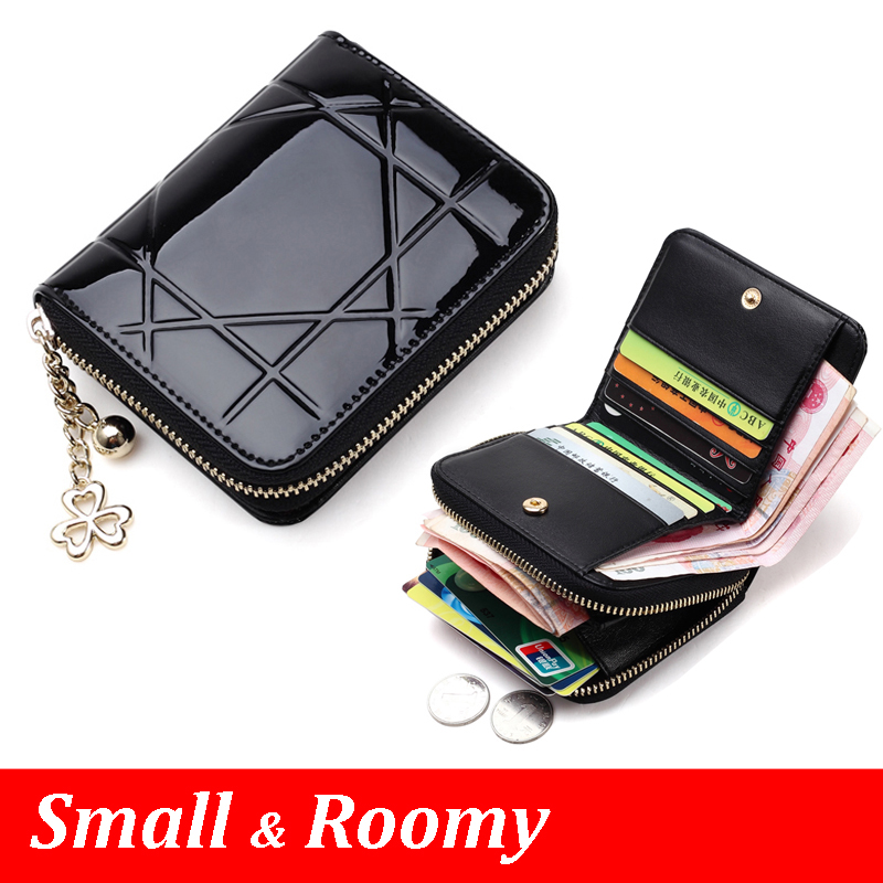 Patent Leather Women Short Wallets Ladies Small Wallet Zipper Roomy Coin Purse Female Credit Card Wallet Purses Money Bag 5012<br><br>Aliexpress