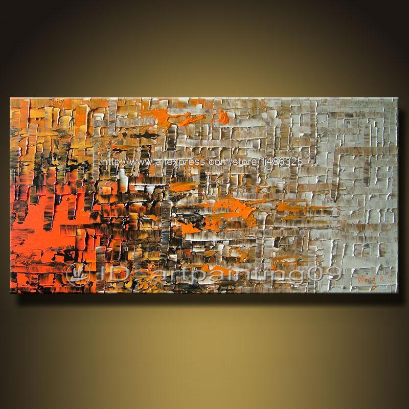 Contemporary abstract landscape palette knife art deco oil for Decoration murale contemporaine