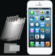 New 5pcs/lot CLEAR LCD Screen Protector Guard Cover Film for Apple iPhone 5 5C 5S